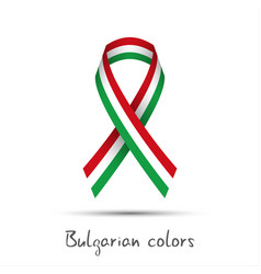 colored ribbon with the bulgarian tricolor vector image vector image