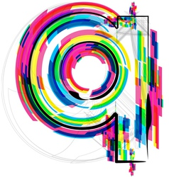 Colorful Font - Letter q vector image vector image
