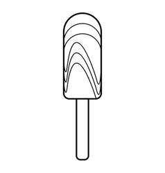 Creamy ice cream icon outline style vector