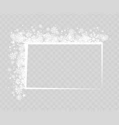 Decorative frame with snowflakes for greeting text vector