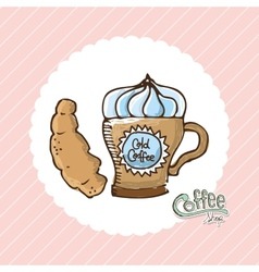 delicious coffee vector image vector image