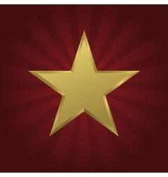 Golden star icon vector