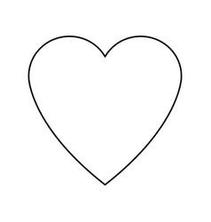 Heart love romance feeeling symbol vector