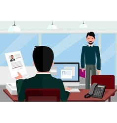 Hiring Recruiting Interview vector image