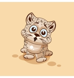 Leopard cub surprised vector