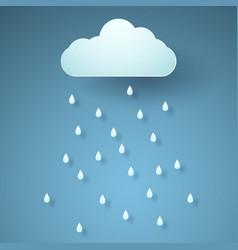 Rain paper art style vector