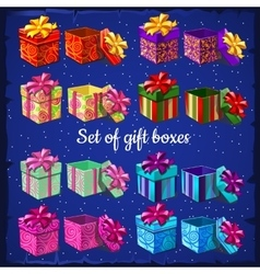 Set of boxes for gifts vector image vector image