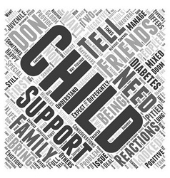 Support from friends and family word cloud concept vector