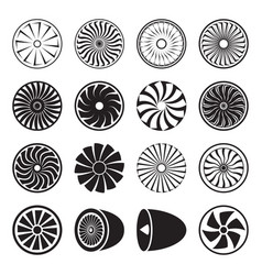 turbine icons vector image