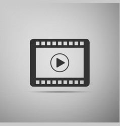 video flat icon on grey background vector image