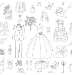 Wedding seamless background vector
