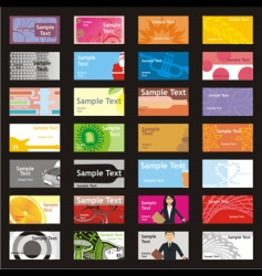 Visit cards with different layouts vector