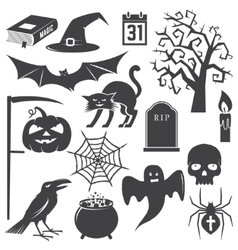 Halloween vintage icon emblem or label vector image