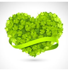 Big green heart vector image