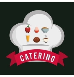 Catering food service chef hat shape breakfast vector