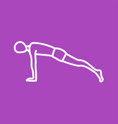 Plank pose vector