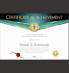 Certificate or diploma retro design collection 2 vector