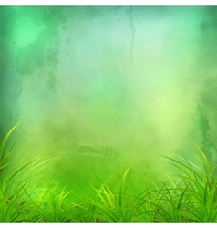 Watercolor green grass background vector
