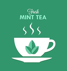 Cup of mint tea vector