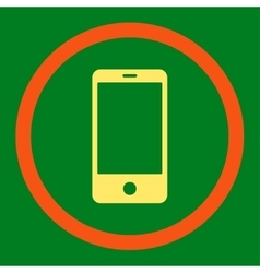 Smartphone flat orange and yellow colors rounded vector