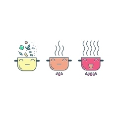 Modern cooking line icons set vector