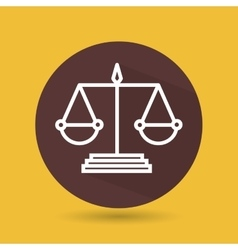 Symbol of justice isolated icon design vector