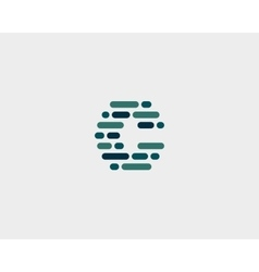 Abstract letter C logo Dynamic code vector image