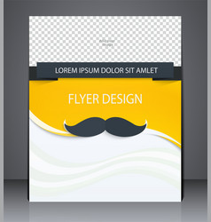 Abstract yellow layout brochure flyer in style vector