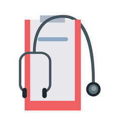 Accessories for doctor in flat design vector