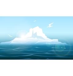 Arctica seascape with iceberg vector image vector image