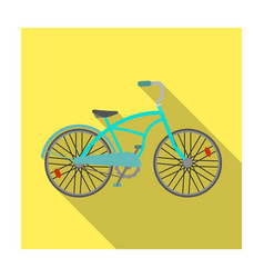 blue two-wheeled bicycle for a ride through the vector image vector image