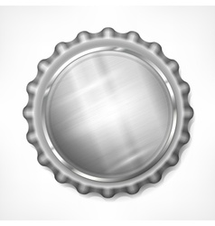 Bottle cap on white vector image vector image