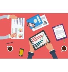 Business analytics statistics and planning vector