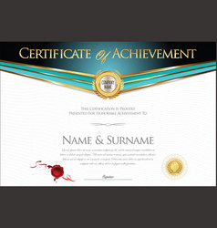 certificate or diploma retro design collection 2 vector image vector image