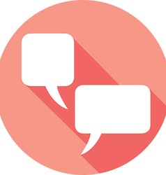 Chat speech bubble icon vector