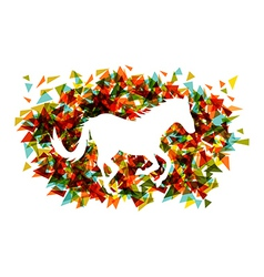 Chinese new year of the horse shape triangle eps10 vector