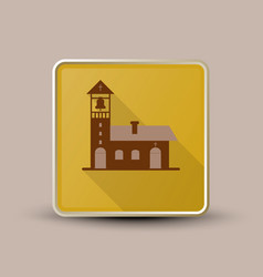 Church with bell icon vector