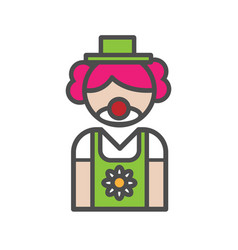 clown avatar icon on white background vector image
