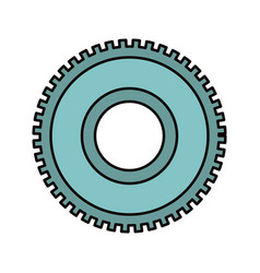 Color sketch silhouette cog wheel pinion icon vector