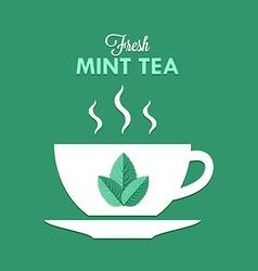 Cup of mint tea vector image