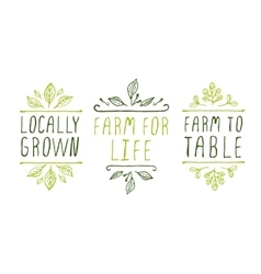 Farm product labels vector
