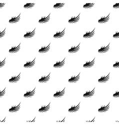 Fluffy angel wing pattern simple style vector