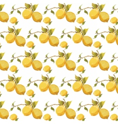 Fresh lemons pattern vector