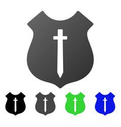 Guard shield flat gradient icon vector
