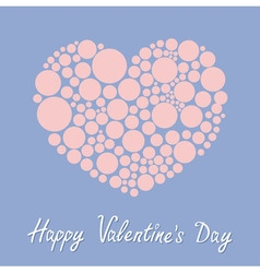 Heart made from many round dots love card happy vector