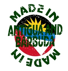 label Made in Antigua and Barbuda vector image