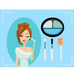 MakeupMake-upEyes hadows Eye shadow brush vector image vector image
