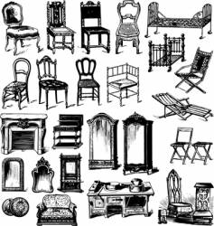 old furniture vector image vector image