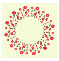 Ornamental wreath vector image vector image