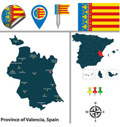 Province of valencia spain vector